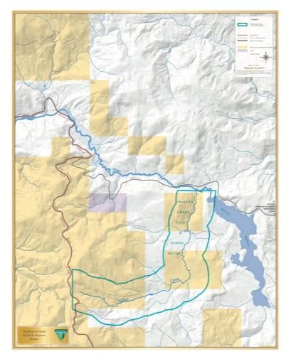map of Walker Creek - Visitor Map