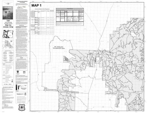 map of Fremont-Winema MVUM - Map 1 2014