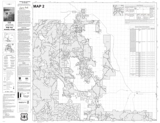 map of Fremont-Winema MVUM - Map 2 2014