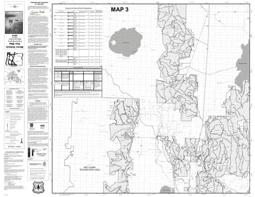map of Fremont-Winema MVUM - Map 3 2014