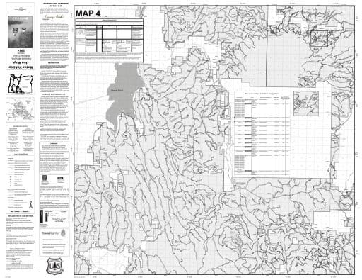 map of Fremont-Winema MVUM - Map 4 2014