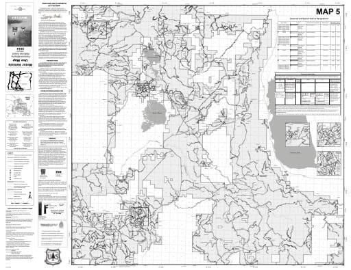 map of Fremont-Winema MVUM - Map 5 2014