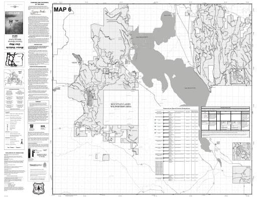 map of Fremont-Winema MVUM - Map 6 2014