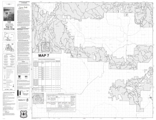 map of Fremont-Winema MVUM - Map 7 2014