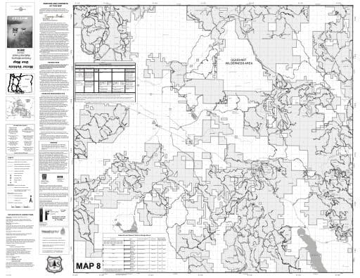 map of Fremont-Winema MVUM - Map 8 2014
