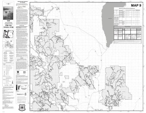 map of Fremont-Winema MVUM - Map 9 2014
