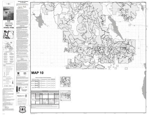map of Fremont-Winema MVUM - Map 10 2014
