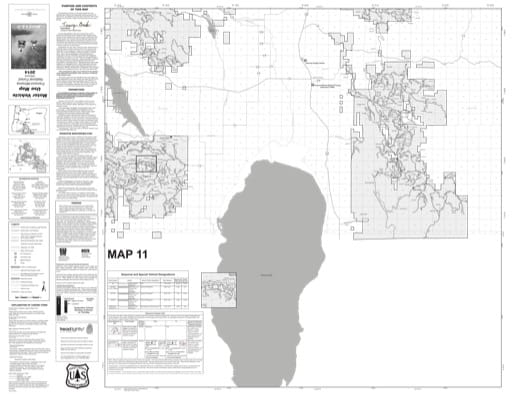 map of Fremont-Winema MVUM - Map 11 2014