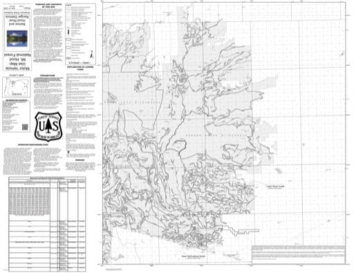 Motor Vehicle Use Map (MVUM) of Barlow and Hood River Ranger Districts (RD) in Mt. Hood National Forest (NF) in Oregon. Published by the U.S. Forest Service (USFS).