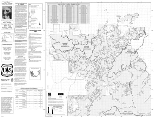 Motor Vehicle Use Map (MVUM) of the Gold Beach Ranger District (north) in Rogue River-Siskiyou National Forest (NF) in Oregon. Published by the U.S. Forest Service (USFS).