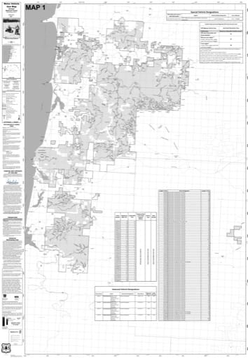 Motor Vehicle Use Map (MVUM) of Hebo Ranger Districts (RD) in Siuslaw National Forest (NF) in Oregon. Published by the U.S. Forest Service (USFS).