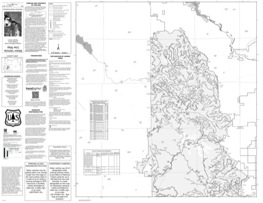 Motor Vehicle Use Map (MVUM) of the Cottage Grove Ranger District (RD) in Umpqua National Forest (NF) in Oregon. Published by the U.S. Forest Service (USFS).