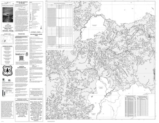Motor Vehicle Use Map (MVUM) of the Western part of Diamond Lake Ranger District (RD) in Umpqua National Forest (NF) in Oregon. Published by the U.S. Forest Service (USFS).
