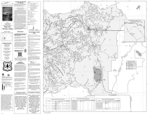 Motor Vehicle Use Map (MVUM) of the Eastern part of Diamond Lake Ranger District (RD) in Umpqua National Forest (NF) in Oregon. Published by the U.S. Forest Service (USFS).