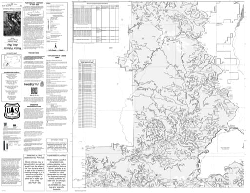 Motor Vehicle Use Map (MVUM) of the Northern part of North Umpqua Ranger District (RD) in Umpqua National Forest (NF) in Oregon. Published by the U.S. Forest Service (USFS).