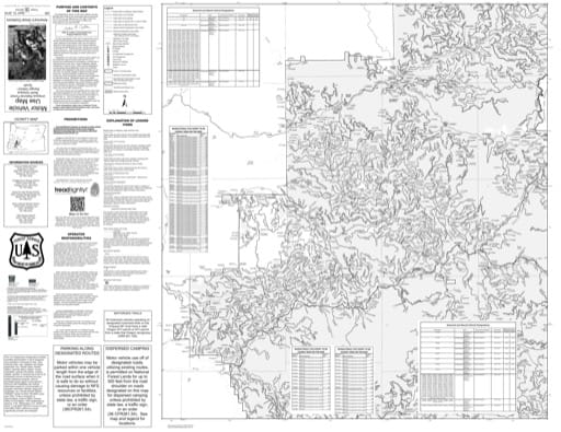 Motor Vehicle Use Map (MVUM) of the Southern part of North Umpqua Ranger District (RD) in Umpqua National Forest (NF) in Oregon. Published by the U.S. Forest Service (USFS).