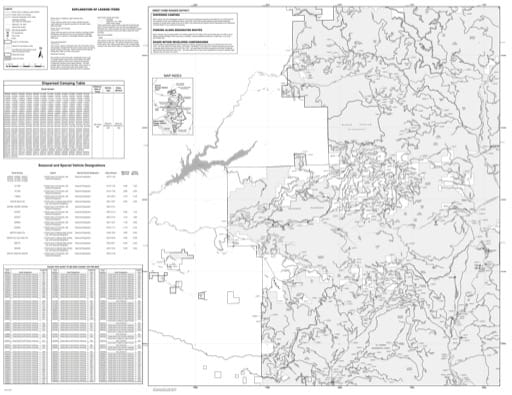 Motor Vehicle Use Map (MVUM) of the Sweet Home Ranger District in Willamette National Forest (NF) in Oregon. Published by the U.S. Forest Service (USFS).