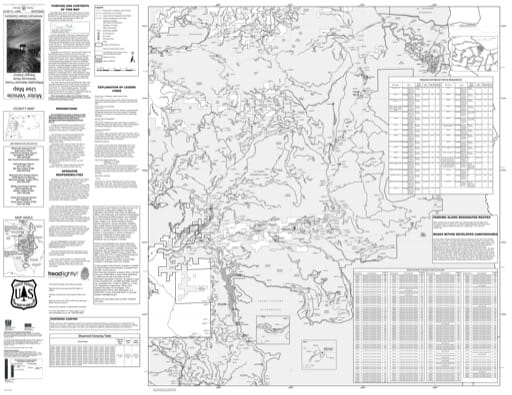 Motor Vehicle Use Map (MVUM) of the McKenzie River Ranger District (north) in Willamette National Forest (NF) in Oregon. Published by the U.S. Forest Service (USFS).