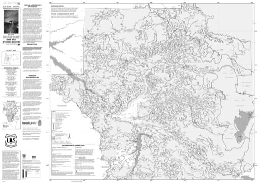 Motor Vehicle Use Map (MVUM) of the Middle Fork Ranger District (north) in Willamette National Forest (NF) in Oregon. Published by the U.S. Forest Service (USFS).