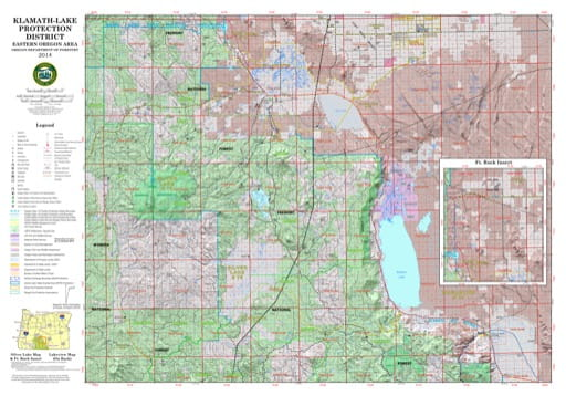 Map of Silver Lake in the Klamath-Lake Protection District in Oregon. Published by the Oregon Department of Forestry.