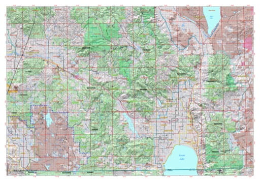 Map of Lakeview in the Klamath-Lake Protection District in Oregon. Published by the Oregon Department of Forestry.