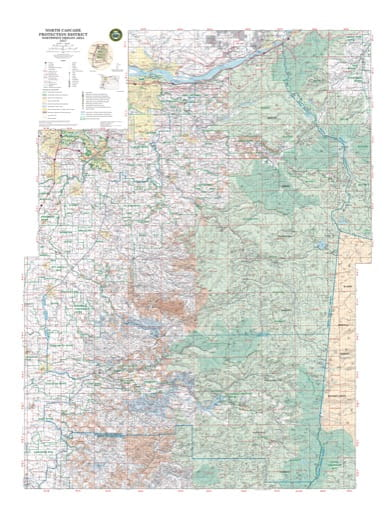 Map of the Northern Part of the North Cascade Protection District in Northwest Oregon. Published by the Oregon Department of Forestry.