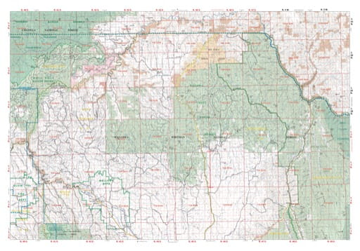Map of the Wallowa Unit North of the Northeast Oregon Protection District. Published by the Oregon Department of Forestry.