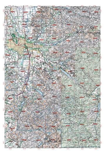 map of Oregon DoF - Eastern Lane - West