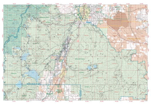 Map of the Sisters Sub-Unit South of the Prineville Unit in the Central Oregon Protection District. Published by the Oregon Department of Forestry.