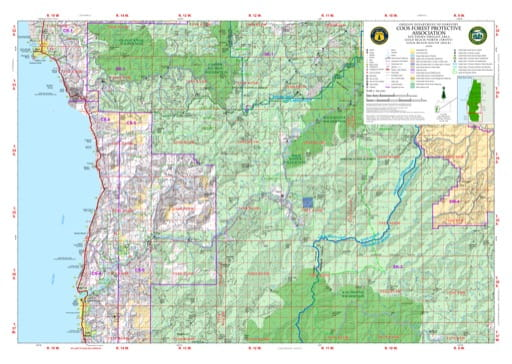 Map of Gold Beach North in the Coos Forest Protective Association area in Oregon. Published by the Oregon Department of Forestry.