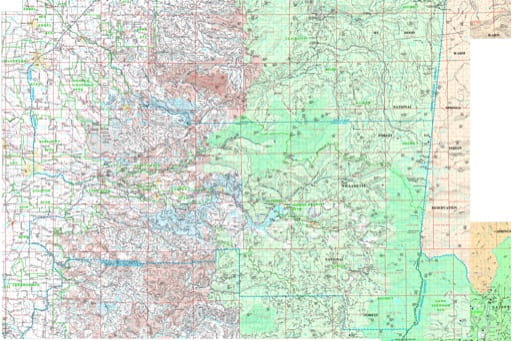 Map of the Southern Part of the North Cascade Protection District in Northwest Oregon. Published by the Oregon Department of Forestry.