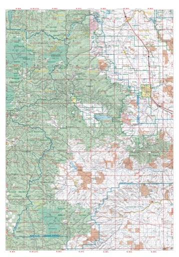 Map of Baker City West in the Northeast Oregon Protection District. Published by the Oregon Department of Forestry.