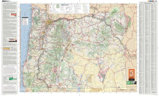 map of Oregon State - Oregon State Map