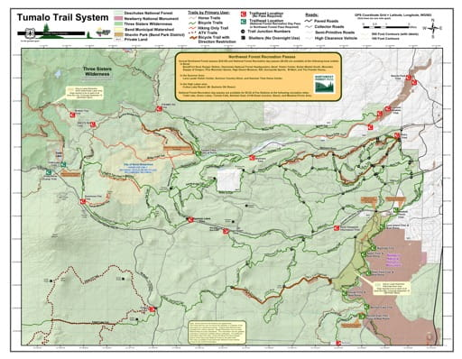map of Deschutes NF - Tumalo Trails