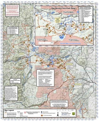 map of Deschutes Sno-Parks - Santiam Pass