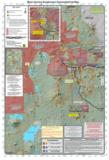 map of Deschutes Sno-Parks - Moon Country Snowbusters Snowmobile Trails