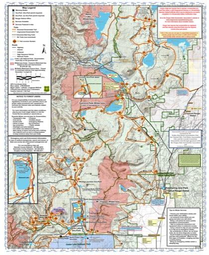 map of Deschutes Sno-Parks - Walker Rim