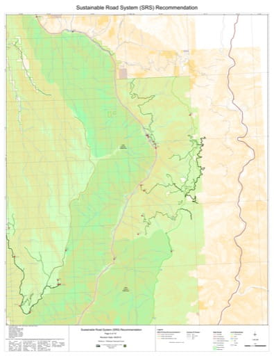 Map 5 of the Sustainable Road System Recommendation for Wallowa-Whitman National Forest (NF) in Oregon. Published by the U.S. Forest Service (USFS).