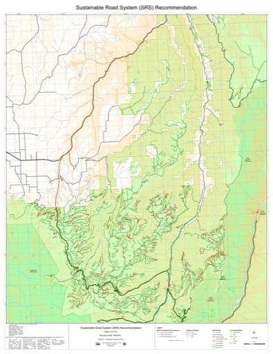 Map 10 of the Sustainable Road System Recommendation for Wallowa-Whitman National Forest (NF) in Oregon. Published by the U.S. Forest Service (USFS).