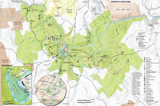map of Ohiopyle - Map