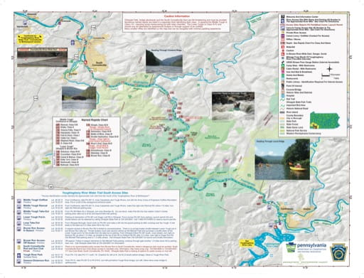 map of Ohiopyle - Southern Yough Water Trail Map