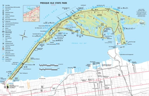 map of Presque Isle - Map