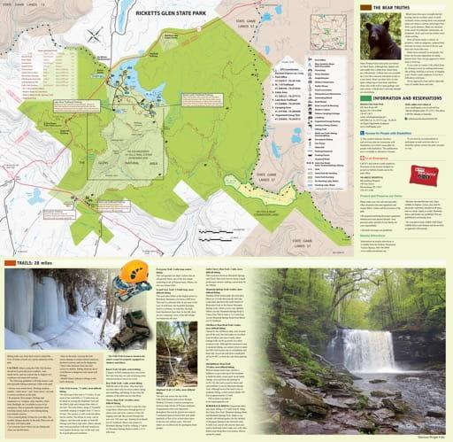 map of Ricketts Glen - Map