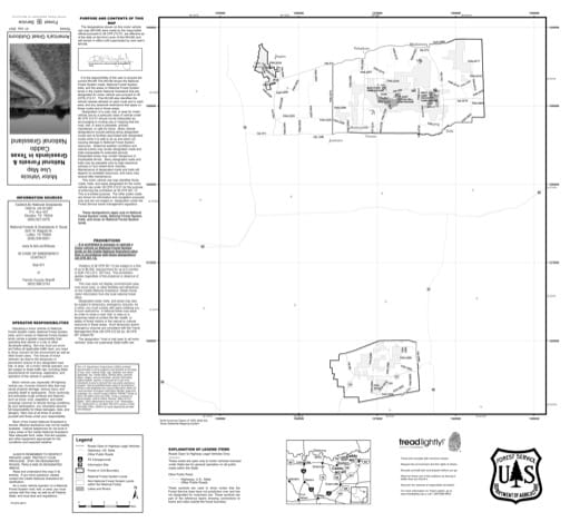 Motor Vehicle Use Map (MVUM) of Caddo National Grassland (NG) in Texas. Published by the U.S. Forest Service (USFS).