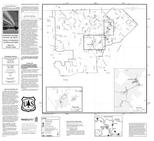 Motor Vehicle Use Map (MVUM) of Lyndon B Johnson National Grassland (NG) in Texas. Published by the U.S. Forest Service (USFS).