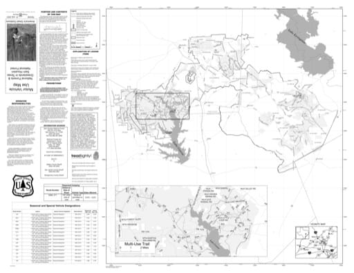 Motor Vehicle Use Map (MVUM) of Sam Houston National Forest (NF) in Texas. Published by the U.S. Forest Service (USFS).