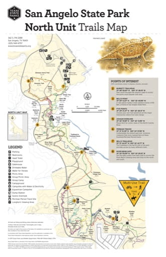 map of San Angelo - Trail Map North