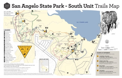 map of San Angelo - Trail Map South
