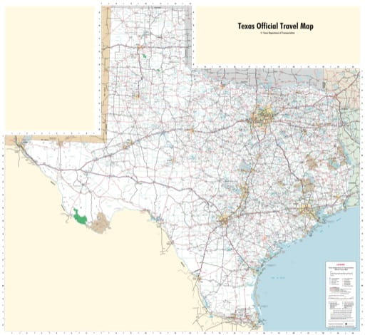 map of Texas State - Texas Travel Map