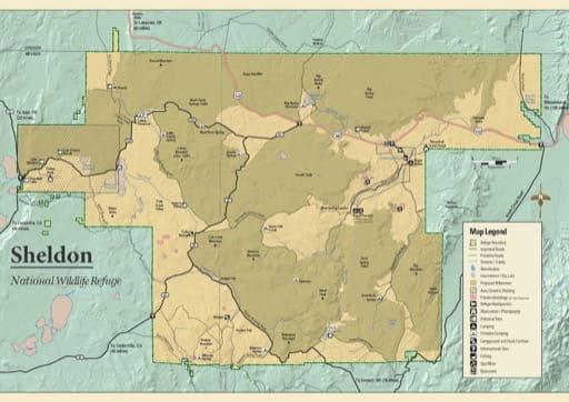 map of Sheldon - Recreation Map